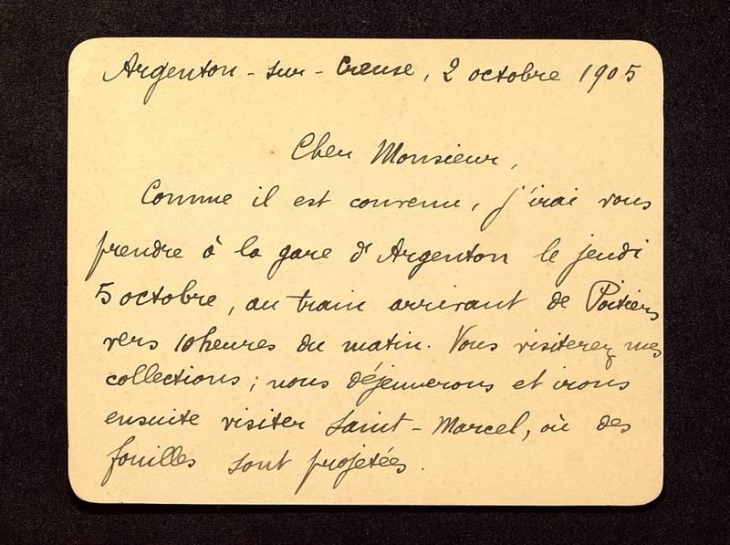 Visuel du media #6 - Lettre de Rollinat à De La Croix du 02 octobre 1905, page 1