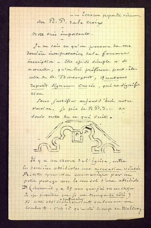 Visuel du media #11 - Note au Père de la Croix, Église Saint-Hilaire, page 1