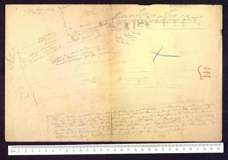 Visuel du media #6 - [Notes sur la voie romaine, Poitiers (Vienne)] page 1