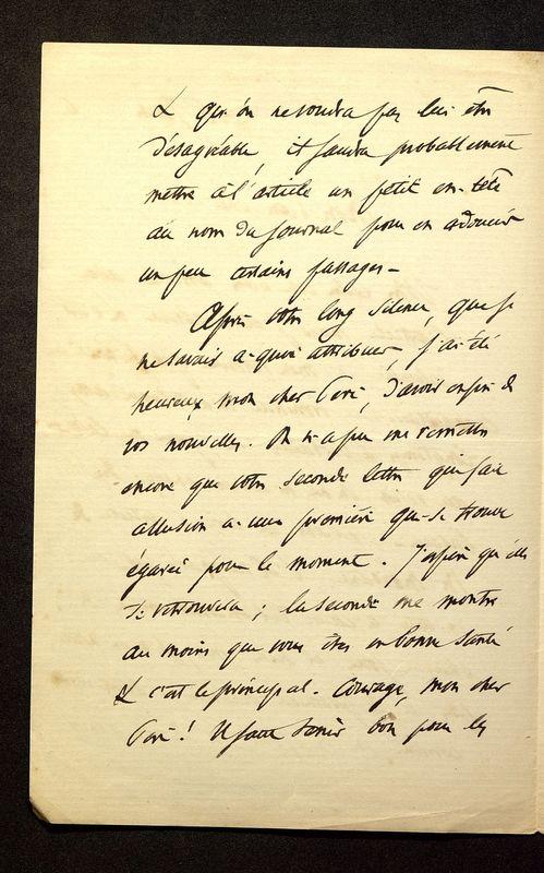Visuel du media #9 - Lettre de Loth à De La Croix du 16 juin 1886, page 2