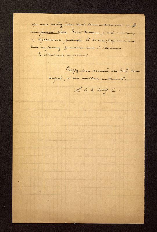 Visuel du media #6 - Lettre de De La Croix à Jullian du 16 mars 1899, page 2
