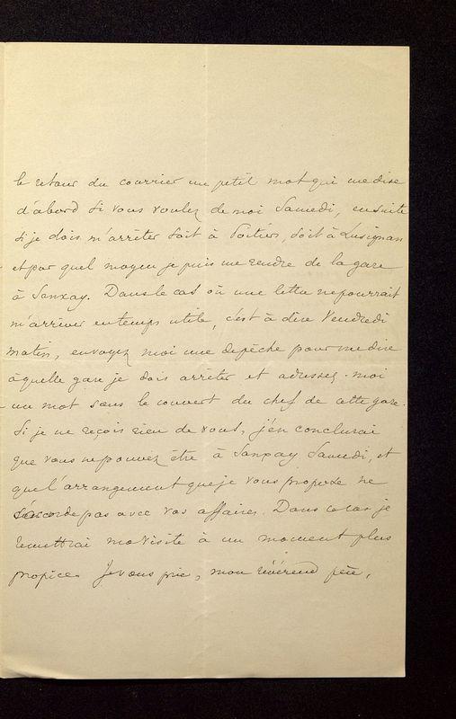 Visuel du media #4 - Lettre de Lasteyrie Du Saillant à De La Croix du 29 mars 1882, page 3