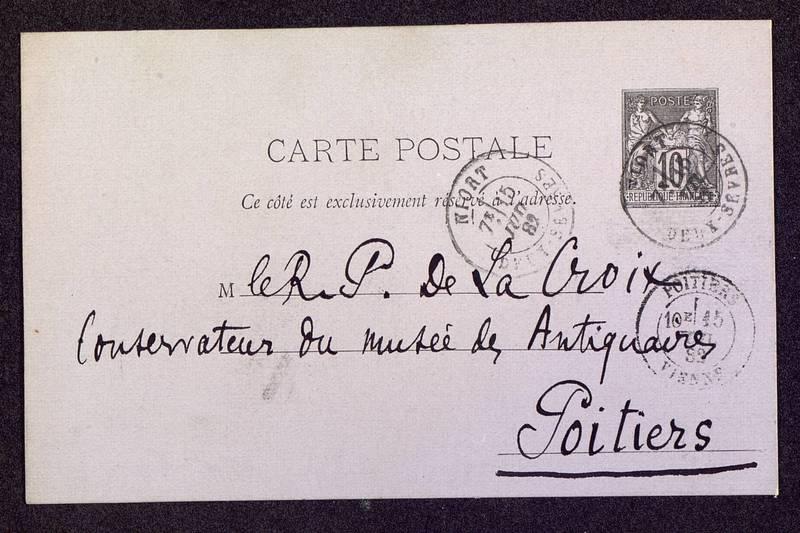Visuel du media #3 - Lettre (01/01/1882) | Page 1 | FRAD86_16J3_31_008