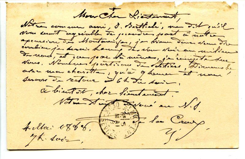 Visuel du media #8 - Lettre de De La Croix à Espérandieu du 04 mai 1888