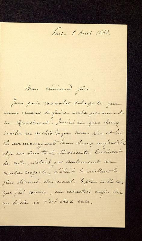 Visuel du media #9 - Lettre de Lasteyrie Du Saillant à De La Croix du 05 mai 1882, page 1