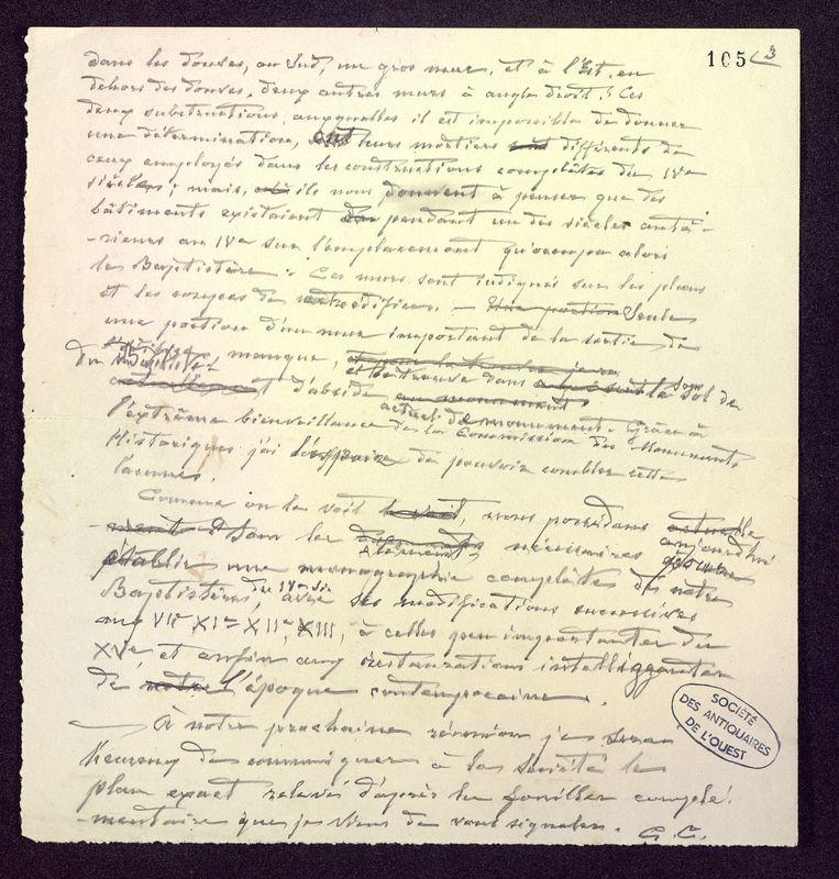 Visuel du media #11 - Manuscrit pour une communication, Baptistère Saint-Jean, page 3