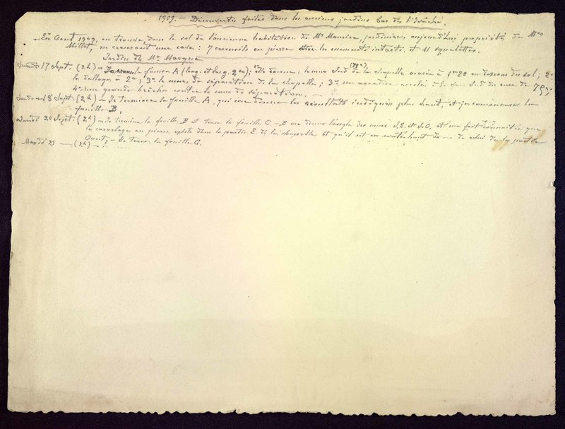 Visuel du media #9 - Découvertes dans les anciens jardins bas de l'évêché, [Poitiers (Vienne)] page 1