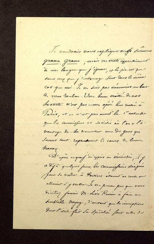 Visuel du media #12 - Lettre de Quicherat à De La Croix du 23 octobre 1879, page 2