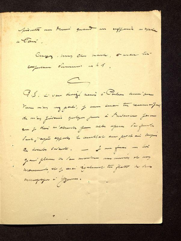 Visuel du media #8 - Lettre de De La Croix à Reinach du 24 janvier 1898, page 3