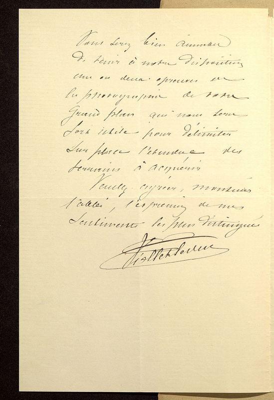 Visuel du media #5 - Lettre de Viollet-le-Duc à De La Croix du 20 février 1883, page 2