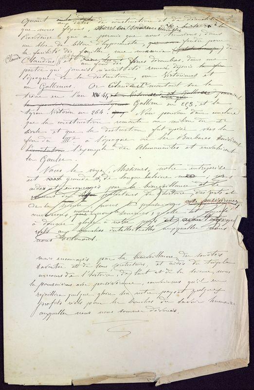 Visuel du media #7 - Les thermes de Poitiers, manuscrit communication 7 p., page 7