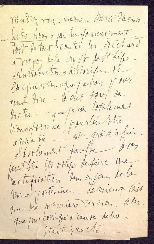 Visuel du media #9 - Lettre de Berthelé à De La Croix du 16 mai 1884, page 3
