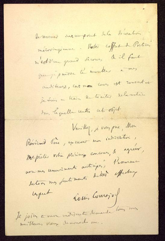 Visuel du media #11 - Lettre de Courajod à De La Croix du 26 décembre 1891, page 4