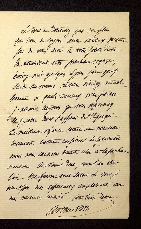 Visuel du media #5 - Lettre de Loth à De La Croix du 01 février 1886, page 3
