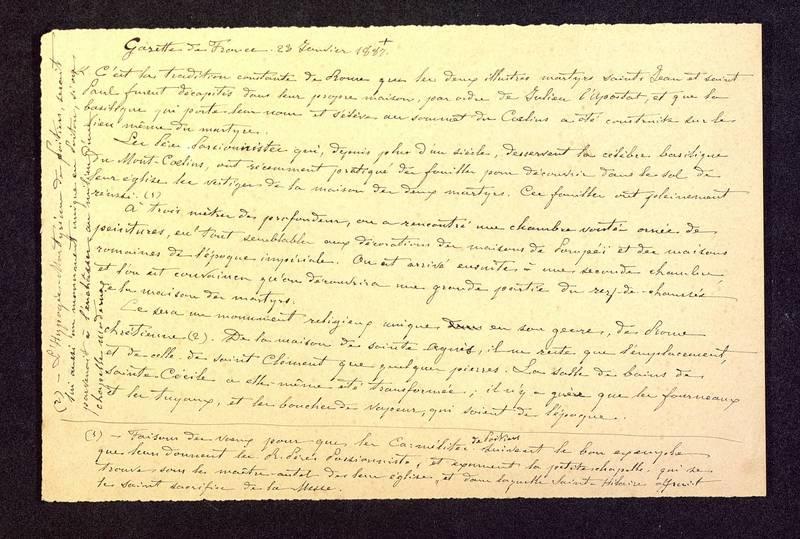 Visuel du media #9 - Gazette de France, 23 janvier 1887