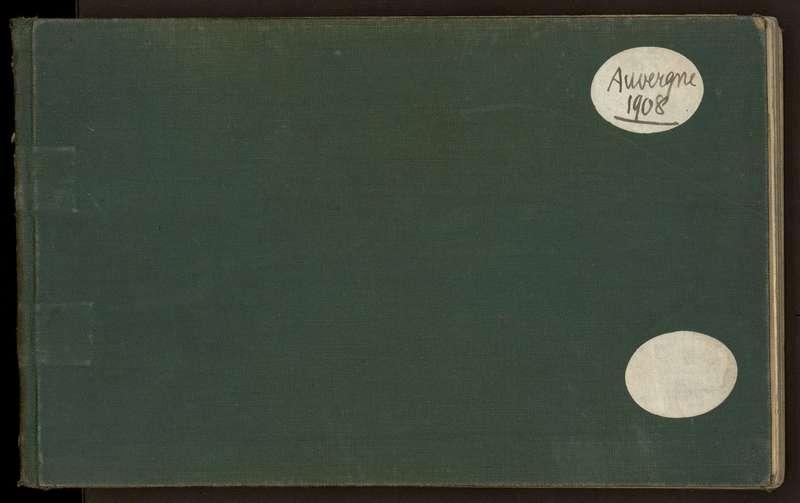 Visuel du document Carnet n°2, Auvergne (1908), Bassin parisien, Morvan (1907)
