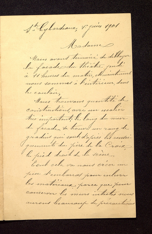 Visuel du document Correspondance avec J. Beaunard (1901-1909)