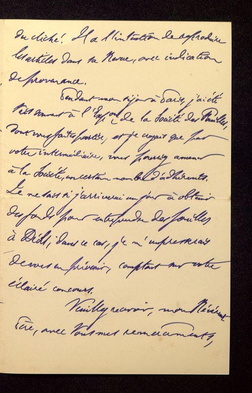 Visuel du media #4 - Lettre de Lenseigne à De La Croix du 07 juillet 1905, page 3