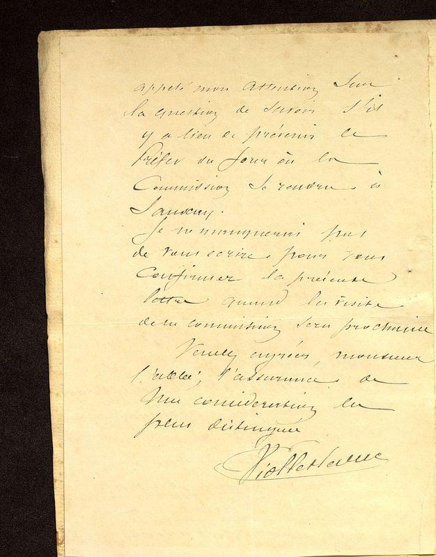 Visuel du media #7 - Lettre de Viollet-le-Duc à De La Croix du 07 mars 1883, page 2