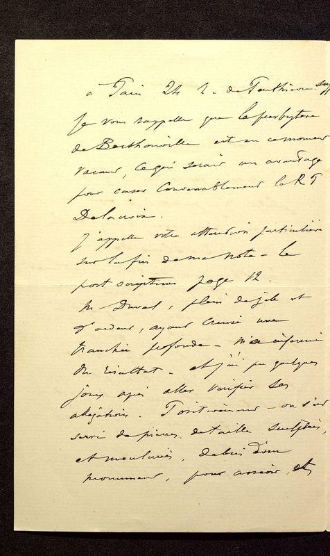 Visuel du media #2 - Lettre de Join-Lambert à De La Croix du 07 juillet 1896, page 2