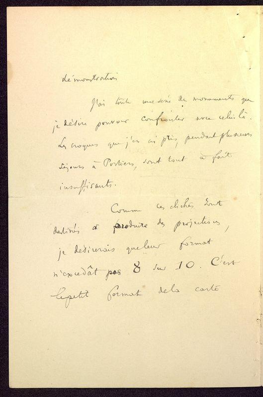 Visuel du media #9 - Lettre de Courajod à De La Croix du 26 décembre 1891, page 2