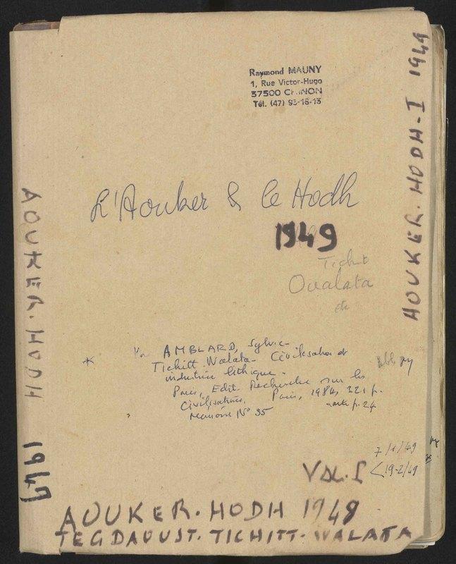 Visuel du document L'Aouker et le Hodh, vol. 1, 7 janvier - 19 février 1949
