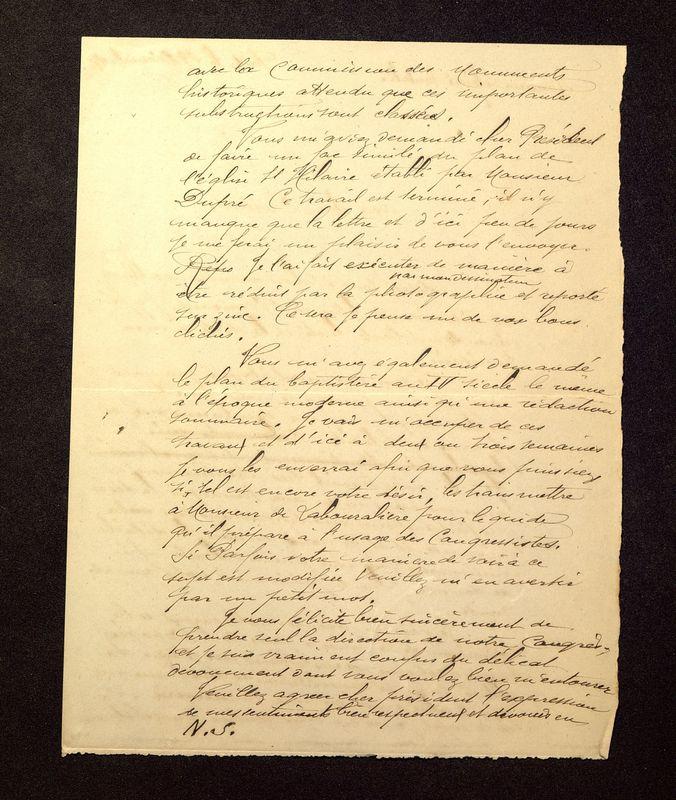 Visuel du media #9 - Lettre de De La Croix à Lefèvre-Pontalis du 29 décembre 1902, page 2