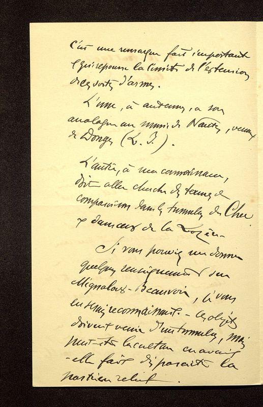 Visuel du media #9 - Lettre de Breuil à De La Croix du 10 août 1902, page 2