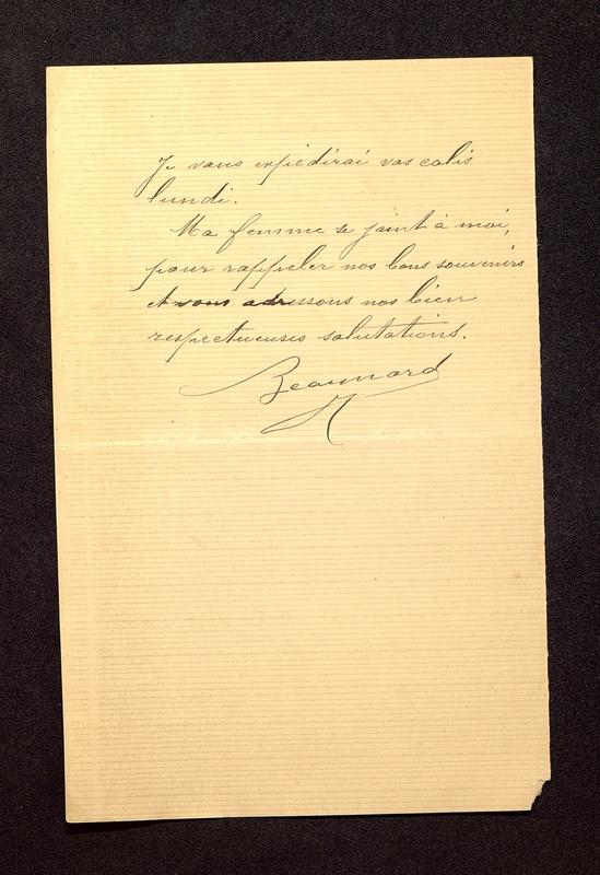 Visuel du media #9 - Lettre de Beaunard à De La Croix du 02 septembre , page 2