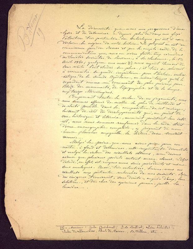Visuel du document Notes manuscrites sur l'hypogée des Dunes à Poitiers 03