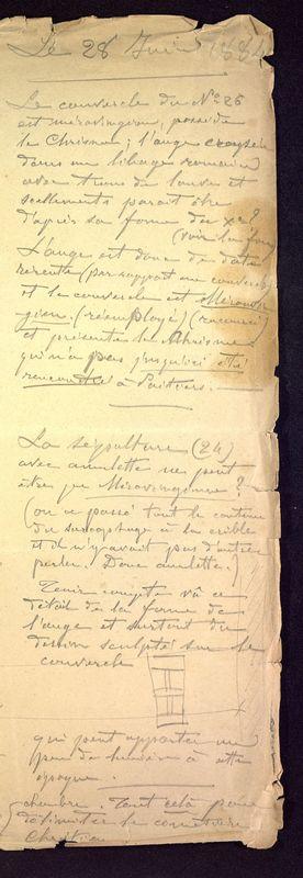 Visuel du media #9 - Notes et croquis sur le cimetière de Saint-Hilaire, page 2
