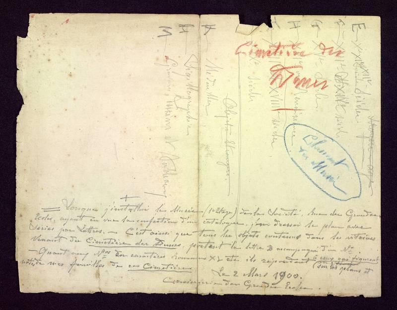 Visuel du media #5 - Cimetière des Dunes, classement du musée, page 1