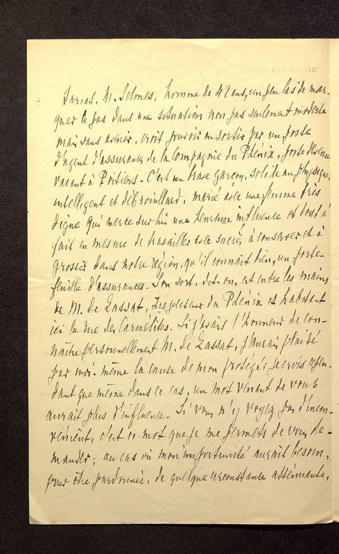 Visuel du media #8 - Lettre de Hild à De La Croix du 06 novembre 1899, page 2
