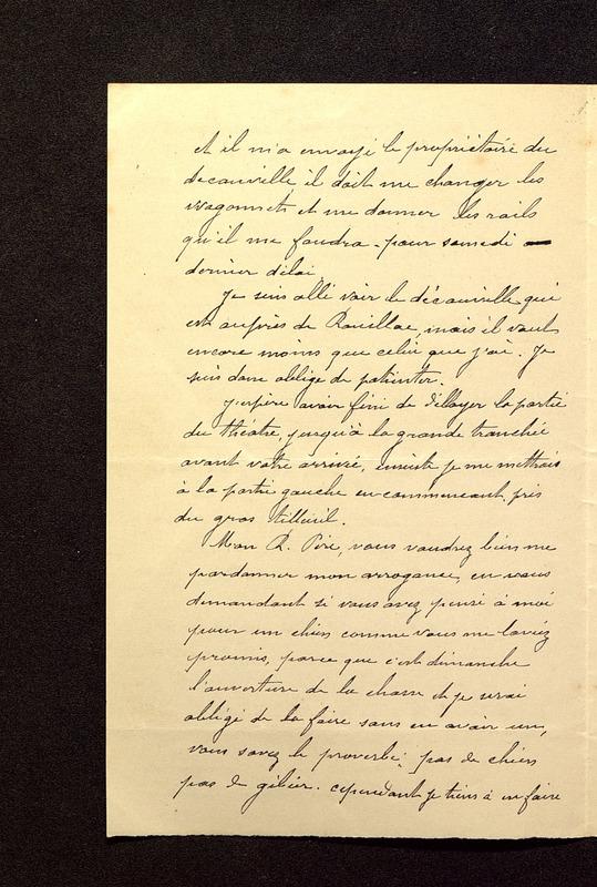 Visuel du media #6 - Lettre de Beaunard à De La Croix du 21 août 1901, page 2