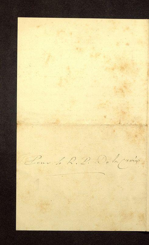 Visuel du media #4 - Lettre de Beauchet-Filleau à De La Croix du 24 mai?, page 1