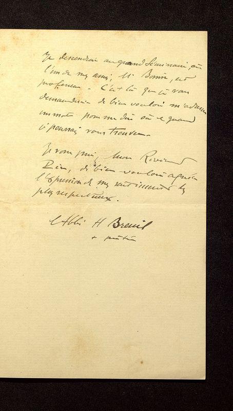 Visuel du media #2 - Lettre de Breuil à De La Croix du 30 mars 1902, page 2