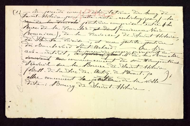 Visuel du media #4 - Notes manuscrites, Église Saint-Hilaire