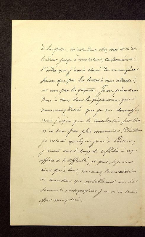 Visuel du media #9 - Lettre de Quicherat à De La Croix du 16 septembre 1879, page 2