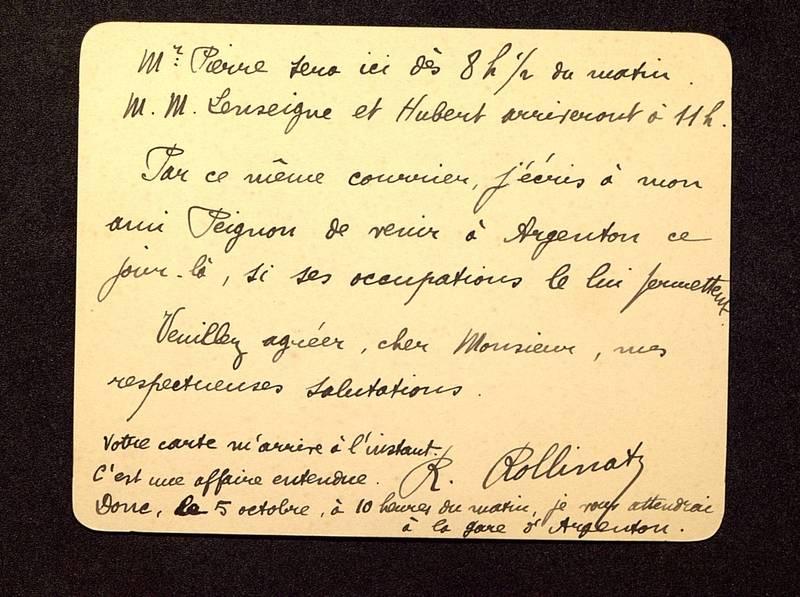 Visuel du media #7 - Lettre de Rollinat à De La Croix du 02 octobre 1905, page 2