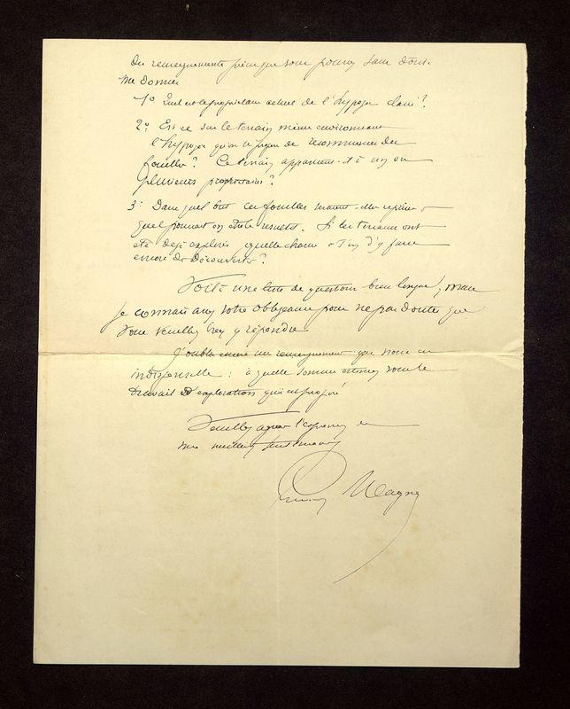 Visuel du media #4 - Lettre de Magne à De La Croix du 05 avril 1903, page 2