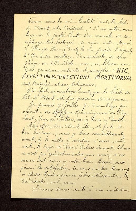Visuel du media #10 - Lettre de De La Croix à Reinach du 24 juin 1904, page 2