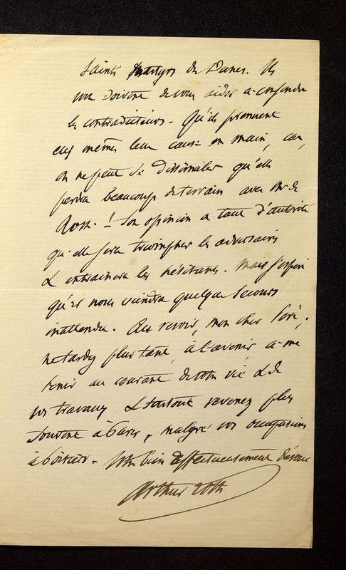 Visuel du media #10 - Lettre de Loth à De La Croix du 16 juin 1886, page 3