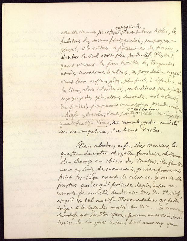 Visuel du media #8 - Lettre de Fillon à De La Croix du 14 novembre 1879, page 6