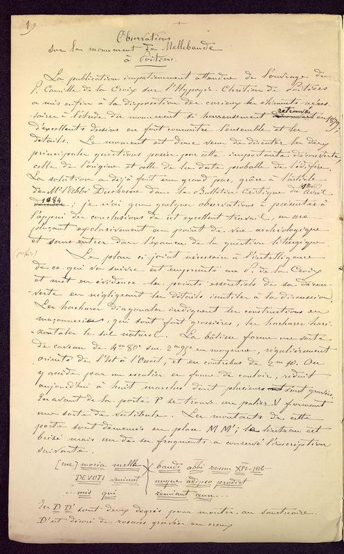 Visuel du media #10 - Observations sur le monument de Mellebaude à Poitiers, page 2