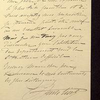 Visuel du media #11 - Lettre de Lisch à De La Croix du 14 septembre 1882, page 3