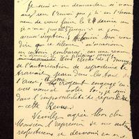 Lettre de De La Croix à Lenseigne du 07 juillet 1905