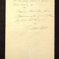 Visuel du media #7 - Lettre de Lisch à De La Croix du 09 juin 1882, page 2