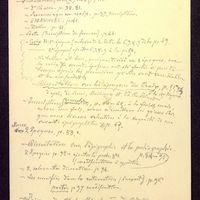 Notes manuscrites, page 1