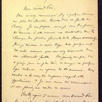 Lettre de Babelon à De La Croix du 06 juin 1883