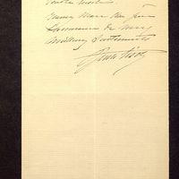 Visuel du media #5 - Lettre de Lisch à De La Croix du 20 avril 1882, page 2